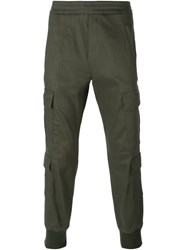 Neil Barrett Jersey Cargo Trousers Green
