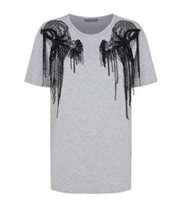 Alexander Mcqueen Beaded Lace T Shirt Female Grey