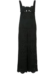 Red Valentino Broderie Anglaise Jumpsuit Women Cotton 42 Black
