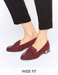 New Look Wide Fit Loafer Red
