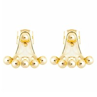 Earthy Chic Boutique Bubble Ear Jackets Yellow Gold