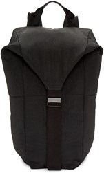 Julius Black Nylon Backpack