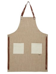 Brunello Cucinelli Leather Trimmed Canvas Apron Beige