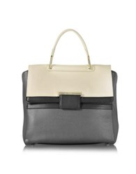 Furla Artesia Lava Leather Handbag Dark Gray