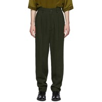 Haider Ackermann Green High Waist Trousers