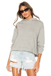 James Perse Relaxed Crop Hoodie Gray