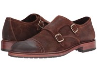Trask Langley Snuff Oiled Suede Men's Flat Shoes Bronze