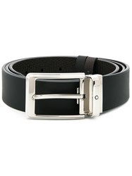 Montblanc Rectangular Buckle Belt Black