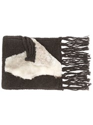 Cutuli Cult Oversized Knit Scarf Brown