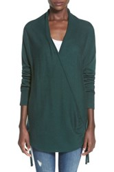 Leith Side Tie Wrap Sweater Juniors Green