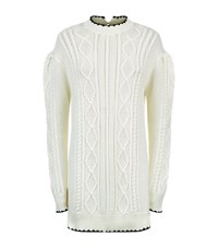 Mcq By Alexander Mcqueen Cable Knit Jumper Dress Female Ivory
