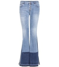 Roberto Cavalli Flared Stretch Cotton Jeans Blue