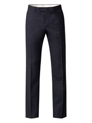 Racing Green Men's Blue Brown Check Tailored Trouser Blue