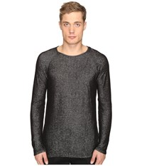 Matiere Jacobson Japanese Double Knit Long Sleeve Tee Jet Black