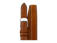 Michele 16Mm Saddle Calfskin Leather Double Wrap Strap Saddle Watches Brown