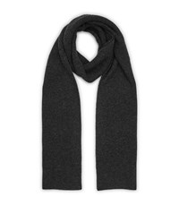 Reiss Cromer Cashmere Mix Scarf In Charcoal