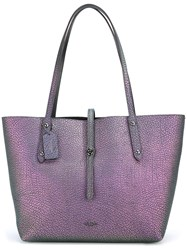 Coach Hologram Effect Tote Pink Purple