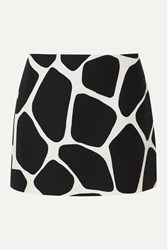 Valentino Printed Wool And Silk Blend Crepe Mini Skirt Ivory