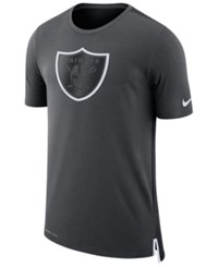 Nike Men's Oakland Raiders Travel Mesh T Shirt Anthracite