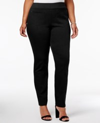 Style And Co Plus Size Pull On Skinny Pants Only At Macy's Deep Black