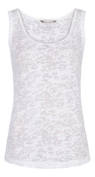 Sandwich Sequin Detail Sleeveless Top White