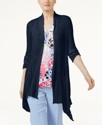 Inc International Concepts Asymmetrical Cardigan Only At Macy's Deep Twilight