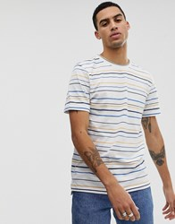 Hymn Multi Stripe T Shirt White