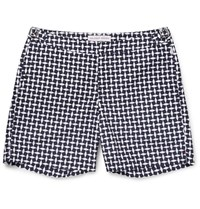 Orlebar Brown Bulldog Mid Length Printed Swim Shorts Navy