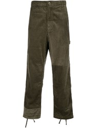 Engineered Garments Boxy Fit Textured Trousers Green