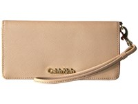 Calvin Klein Saffiano Wallet Nude Pop Interior Wallet Handbags Neutral