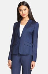 Boss 'Janore' One Button Blazer Ink Blue Melange