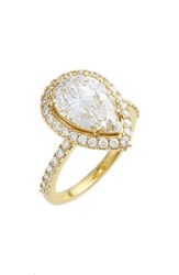 Women's Nadri Pear Cut Cubic Zirconia Ring Gold