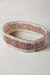 Anthropologie Shira Beaded Belt Dark Purple