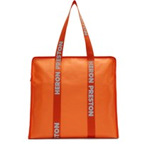 Heron Preston Orange Logo Tote