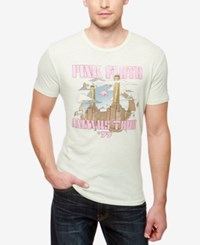Lucky Brand Men's Pink Floyd Towers Graphic Print T Shirt Sky Gray