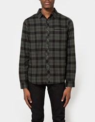 Native Youth Breach Check Shirt Olive