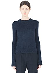 Rick Owens Silk Knitted Crew Neck Sweater