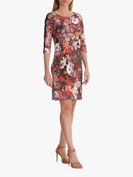 Betty Barclay Sporty Floral Dress Red Dark Blue