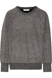 Equipment Sloane Metallic Wool Blend Sweater Dark Gray