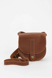 Kimchi And Blue Kimchi Blue Luisa Embossed Leather Saddle Bag Brown