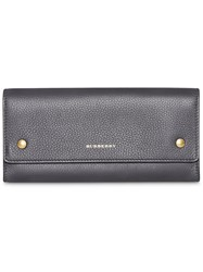 Burberry Leather Continental Wallet Grey