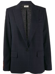 Zadig And Voltaire Boxy Blazer Blue