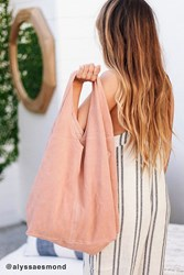 Urban Outfitters Slouchy Suede Shopper Tote Bag Pink