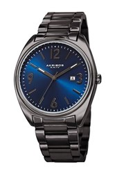 Akribos Xxiv Men's Quartz Bracelet Watch Black