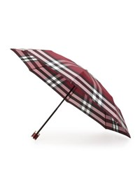Burberry Trafalgar Packable Check Umbrella Plum