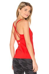 Alo Yoga Lotus Bra Tank Red