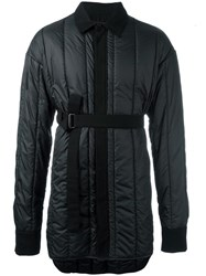 Ann Demeulemeester Grise Padded Belted Jacket Black