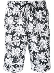Nike Floral Print Shorts Men Polyester S Black