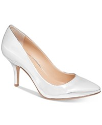 Inc International Concepts Womens Zitah Pointed Toe Pumps Only At Macy's Women's Shoes Pale Silver