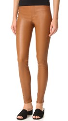 Helmut Lang Leather Leggings Fawn